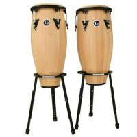 LP Aspire Wood Congas zestaw ze statywami