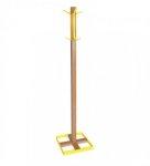 Wieszak stojący drewno/metal CLINT 2 buk/żółty