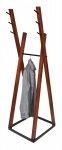 Wieszak stojący drewno/metal COMBO C-6 kasztan/czarny