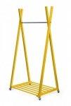 Wieszak stojący drewno/metal B-9 M żółty
