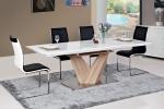 Stół rozkładany ALARAS biały/dąb sonoma