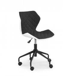 Fotel młodzieżowy MATRIX czarno-biały