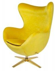 Fotel EGG SZEROKI VELVET GOLD żółty