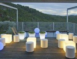 Lampa ogrodowa CUBY 32 SOLAR biała - NEW GARDEN