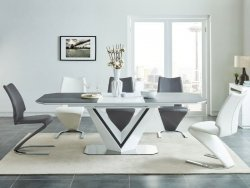 Stół rozkładany VALERIO CERAMIC biały
