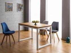 Stół LORAS II 150x90 lity dąb/biały