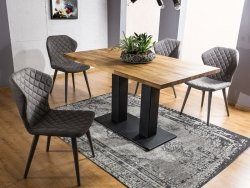Stół SAURON 150x90 lity dąb/czarny