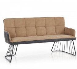 Sofa L1 jasny brąz/czarny