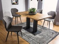 Stół SAURON 120x80 lity dąb/czarny