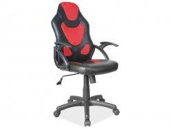 Fotel obrotowy Q100 czarno-czerwony