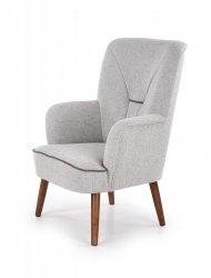 Fotel wypoczynkowy BISHOP jasny popielaty/orzech