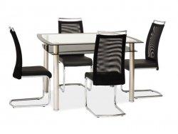 Stół RODI 120x80 czarny/chrom