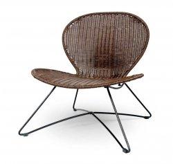 Fotel ogrodowy TROY brązowy