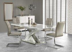 Stół rozkładany SANDOR 2 popielaty/biały