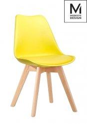 Krzesło NORDIC żółte/dąb