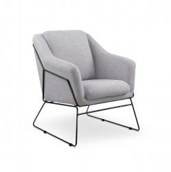 Fotel wypoczynkowy SOFT 2 jasny popielaty/czarny