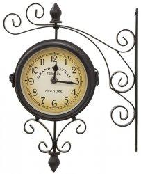 Zegar ścienny - NEW YORK czarny