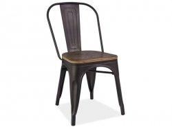 Krzesło LOFT ciemny orzech/grafit