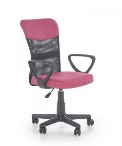 Fotel młodzieżowy TIMMY różowy/czarny