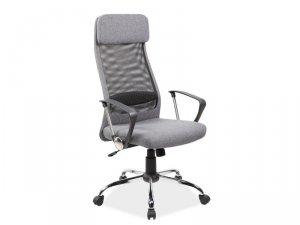 Fotel obrotowy tkanina/siatka Q345 szary