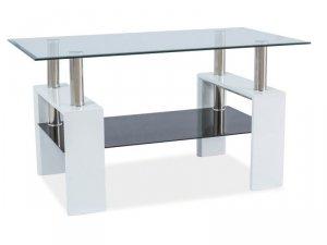 Ława szklana LISA III biała