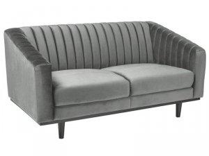 Sofa ASPREY VELVET szara