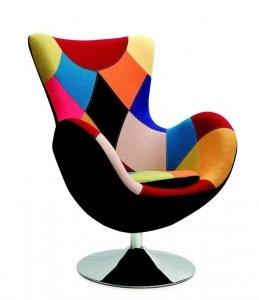 Fotel wypoczynkowy BUTTERFLY patchwork