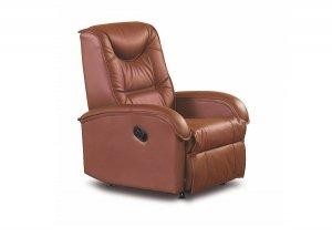 Fotel rozkładany JEFF brązowy