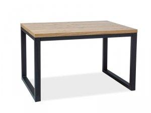 Stół LORAS II 150x90 lity dąb/czarny