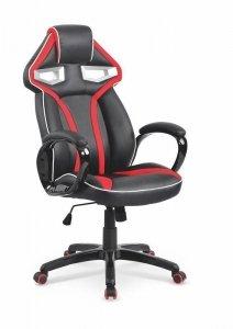 Fotel gabinetowy HONOR czarny/czerwony