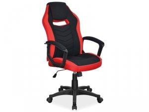 Fotel obrotowy CAMARO czerwono-czarny