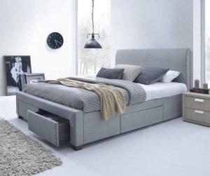 Łóżko tapicerowane z szufladami MODENA