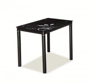 Stół szklany DAMAR 80x60 czarny