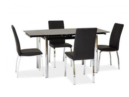 Stół szklany rozkładany GD-019 czarny