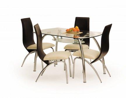 Stół CORWIN BIS bezbarwny/chrom
