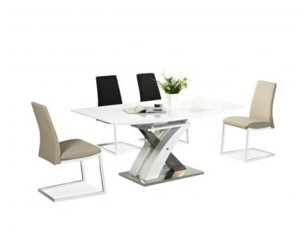 Stół rozkładany RAUL 140(180)x85 biały