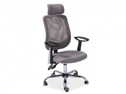 Fotel obrotowy Q118 szary