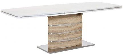 Stół rozkładany FANO 160/90 dąb sonoma/biały