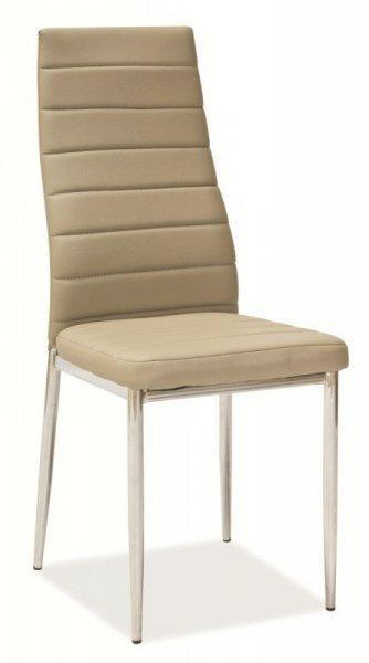 Krzesło metalowe H-261 ciemny beż