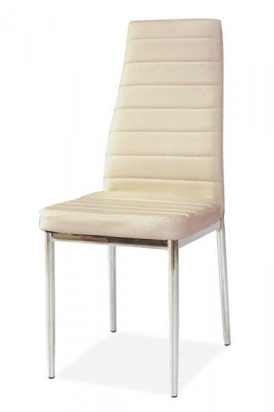 Krzesło H261 kremowy/chrom