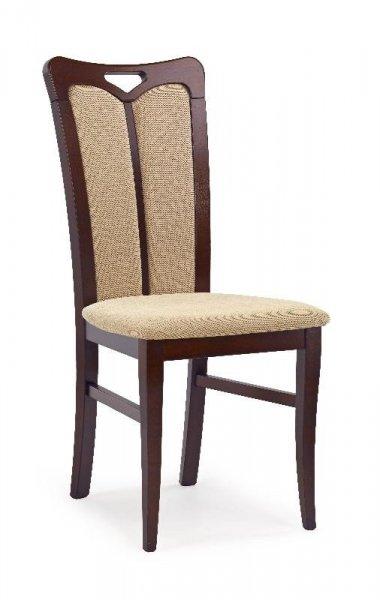 Krzesło HUBERT2 ciemny orzech/tap. torent beige