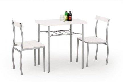Zestaw LANCE stół + 2 krzesła biały