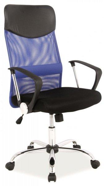 Fotel obrotowy Q-025 niebieski/czarny