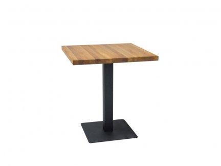 Stół PURO 60x60 lity dąb/czarny