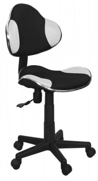 Fotel gabinetowy Q-G2 biało-czarny tkanina