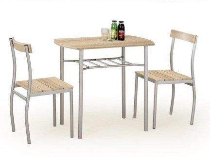 Zestaw LANCE stół + 2 krzesła dąb sonoma