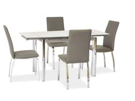 Stół szklany rozkładany GD-019 biały