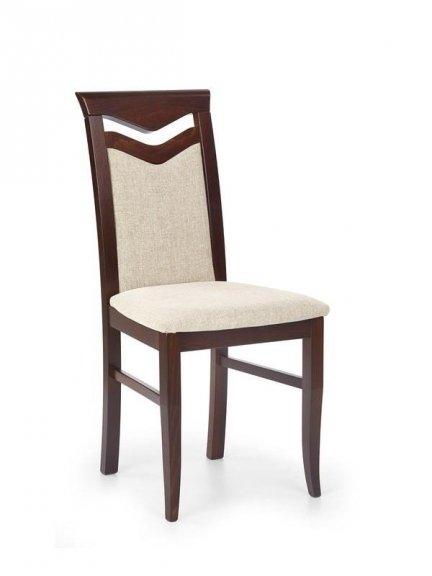 Krzesło CITRONE ciemny orzech/vila 2