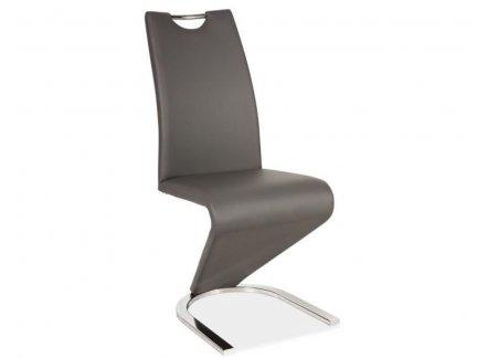 Krzesło H090 szary/chrom