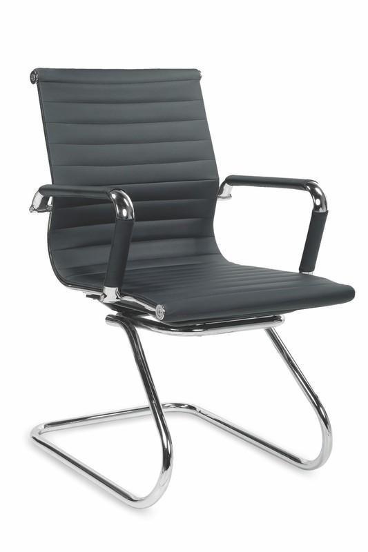 Fotel gabinetowy PRESTIGE SKID czarny